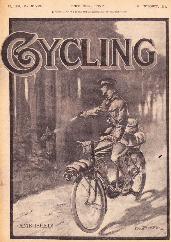 Ambushed while cycling, 1914