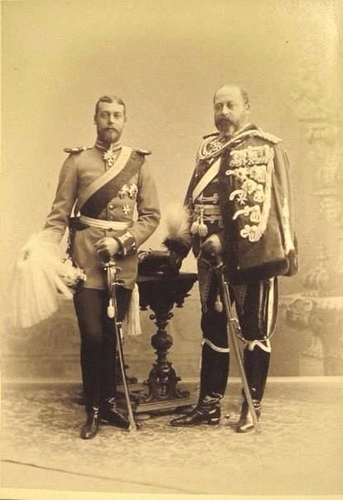 King Edward VII and Prince George (Later King George V)