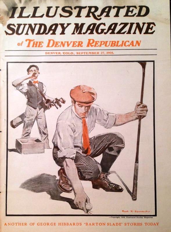 Golfing illustration by Frank Leyendecker,1905