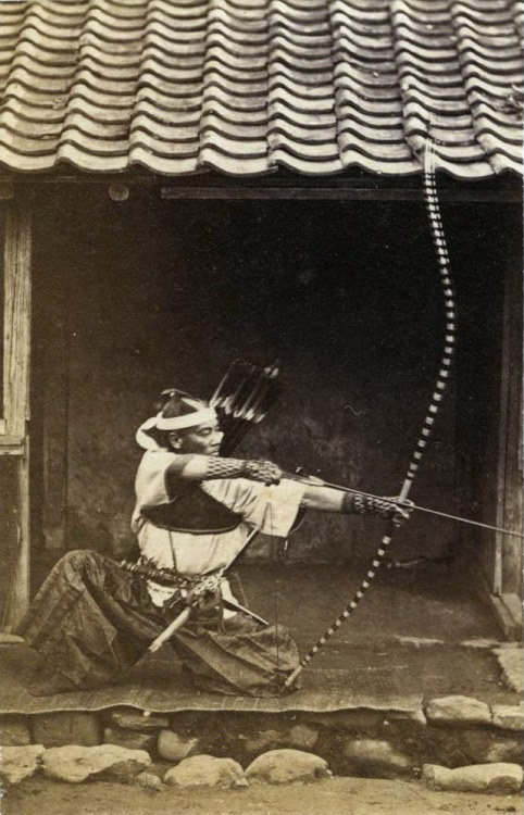 Japanese archer, 1800s