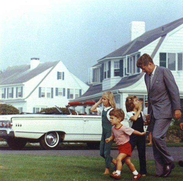 JFK and children, Cape Cod, circa1960
