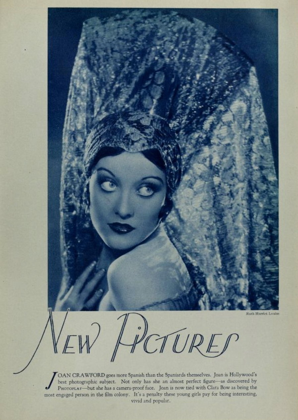 Joan Crawford, going full mantilla, late 1920s