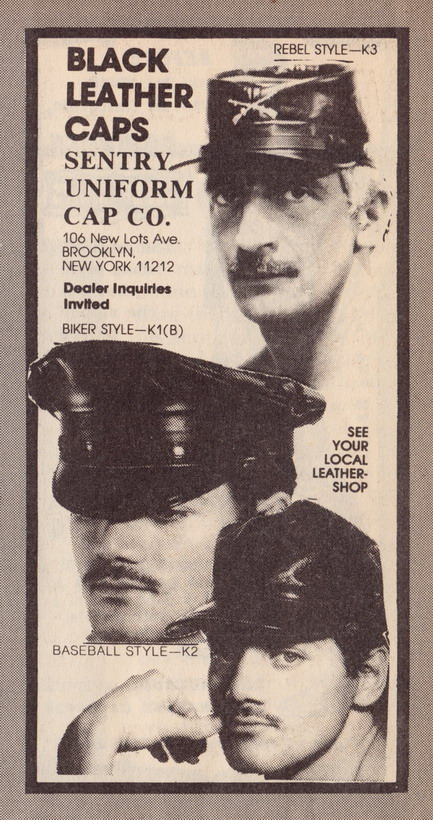 Ad for leather gear, circa1980