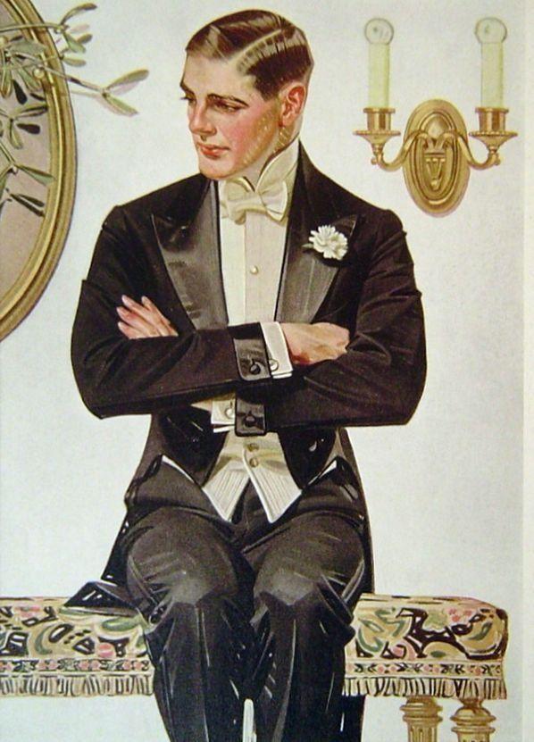 Detail form a JC Leyendecker illustration, circa1910