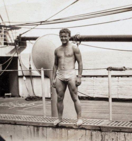 Vintage Shirtless Sailor