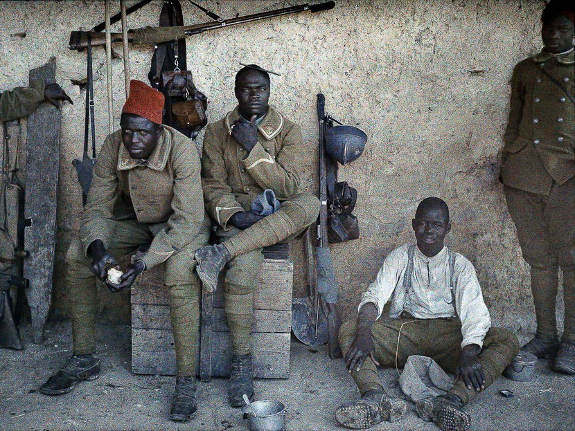 French colonial forces, Africa, WWI