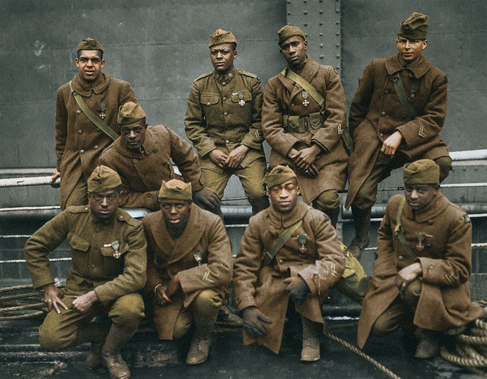 African-American soldiers, WWI