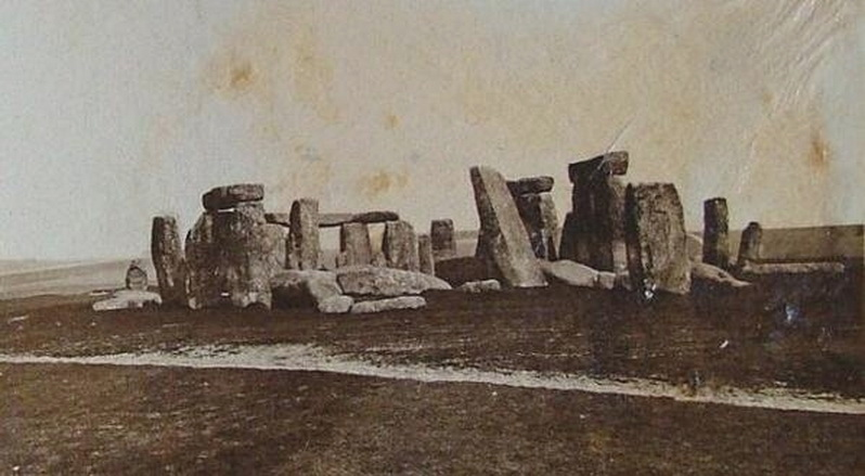 Stonehenge before it was restored, 1800s