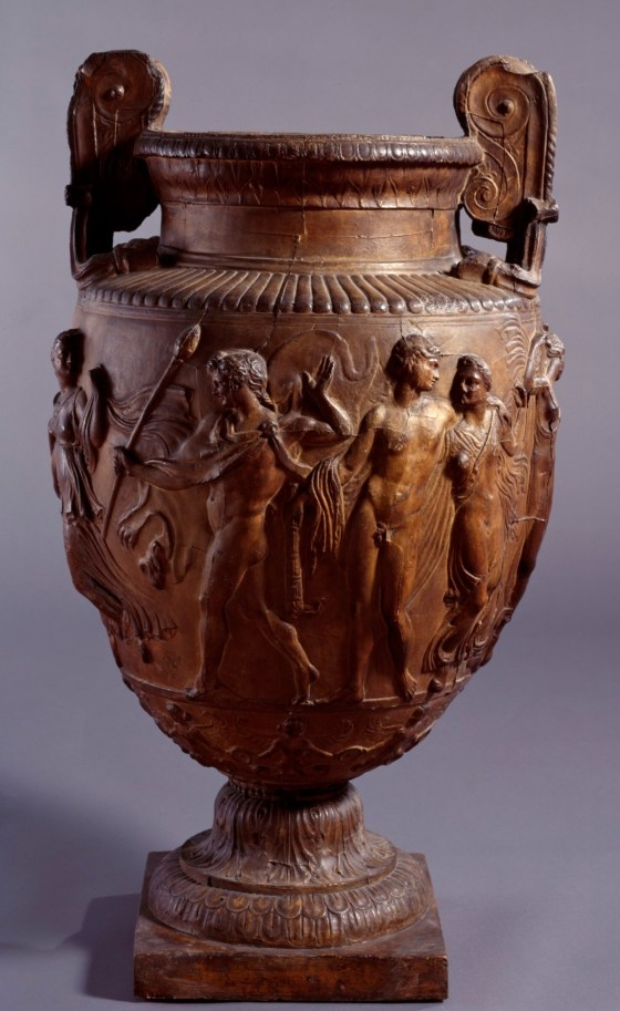 British Museum; Cast of Townley vase decorated with a Bacchic scene; Townley Collection, British Museum, London