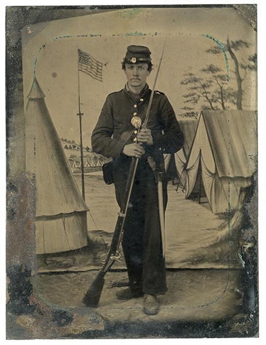 US CIVIL WAR SOLDIER 14822