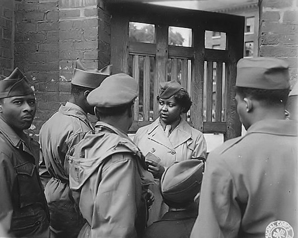 African-American soldiers in France,1944