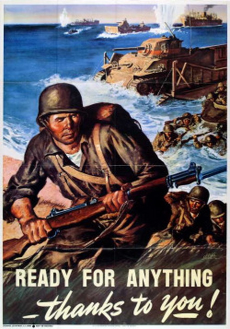 Ready for Anything! (WWII US Marinesposter)