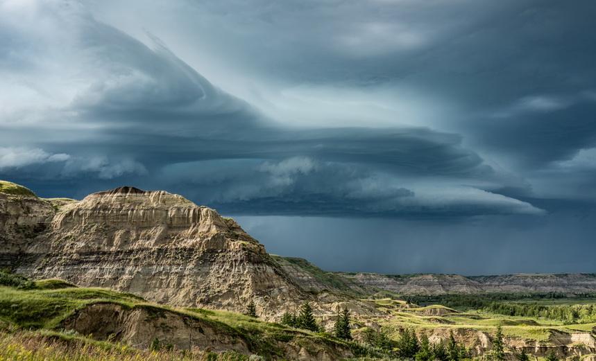 Storm clouds over Alberta,Canada
