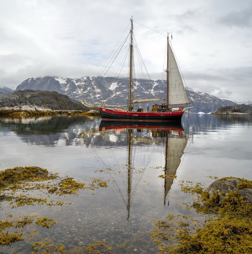 Boat up in theArctic