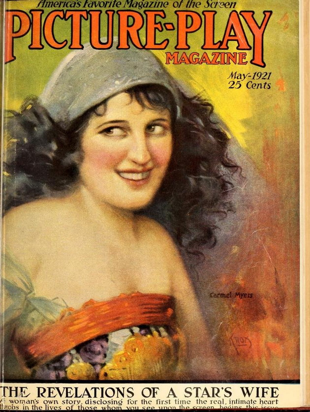 Silent film star Carmel Myers on the cover of Picture Play, 1921