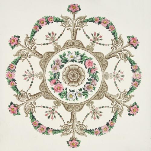 Antique ceiling wallpaper