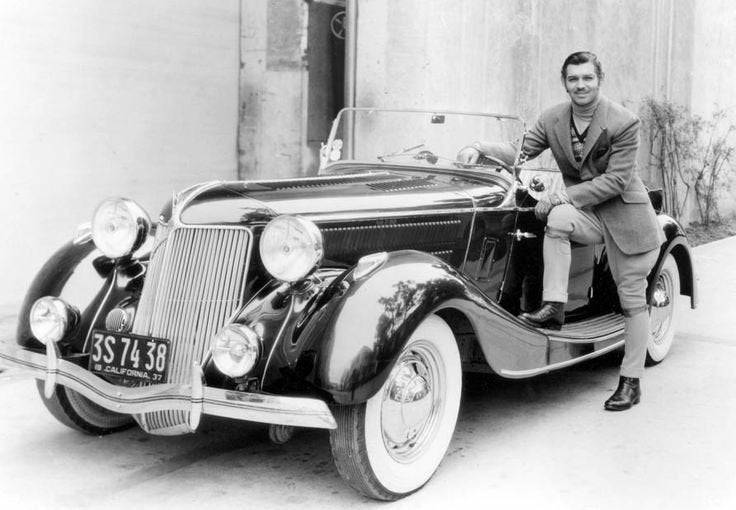 Clark Gable and one of his cars,1930s