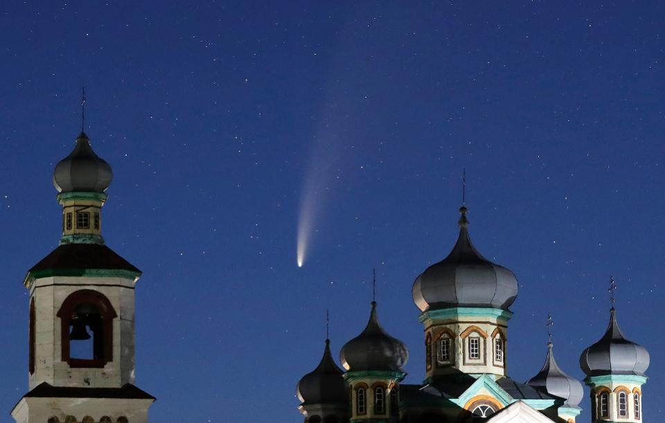 Comet Neowie over Belarus, July2020