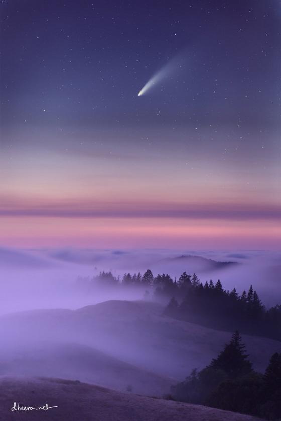 comet over california