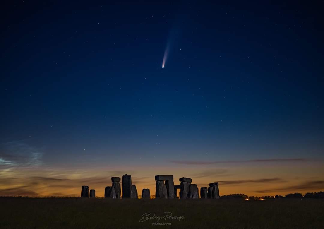 Comet over Stonehenge, July2020