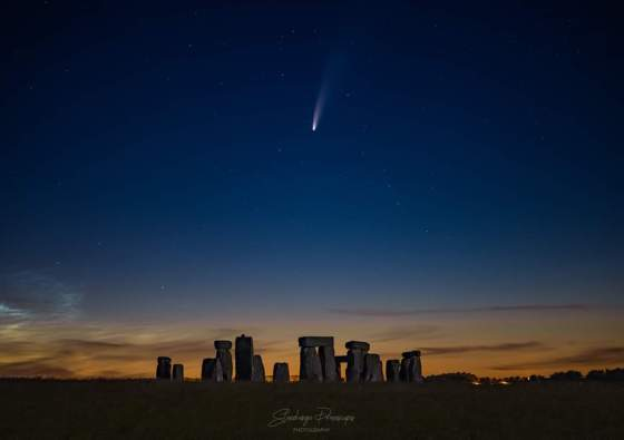 comet over stonehenge