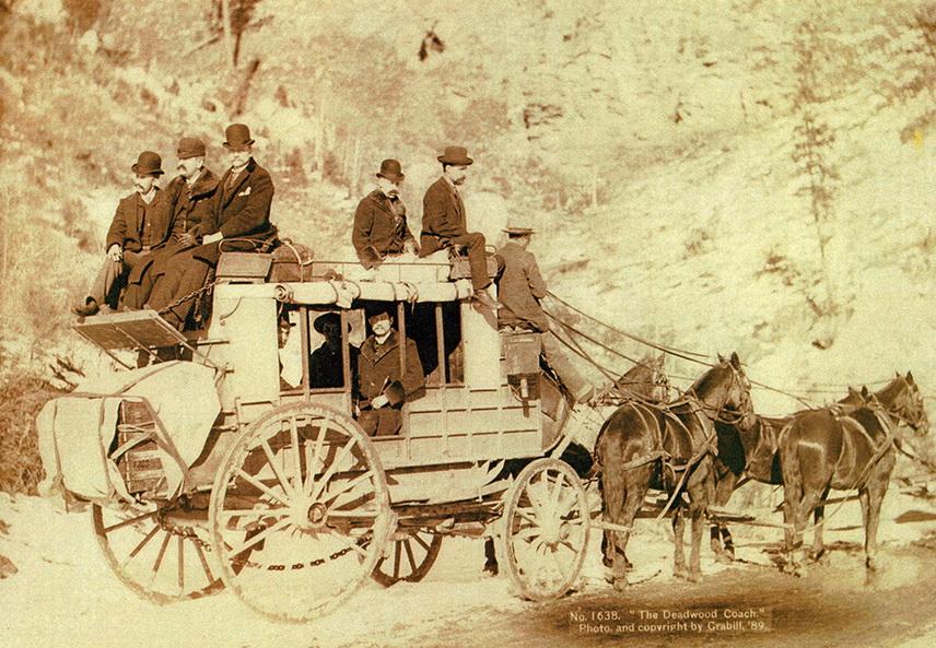 Stagecoach to Deadwood, South Dakota,1890s