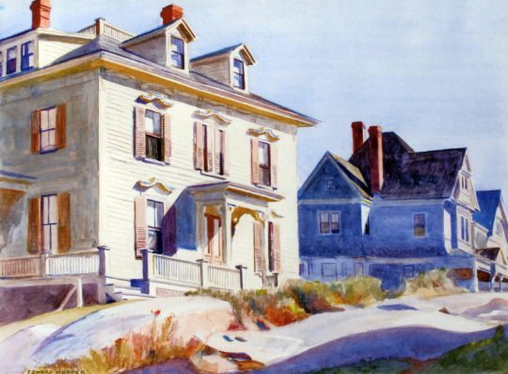 Painting by Edward Hopper, Gloucester,Massachusetts
