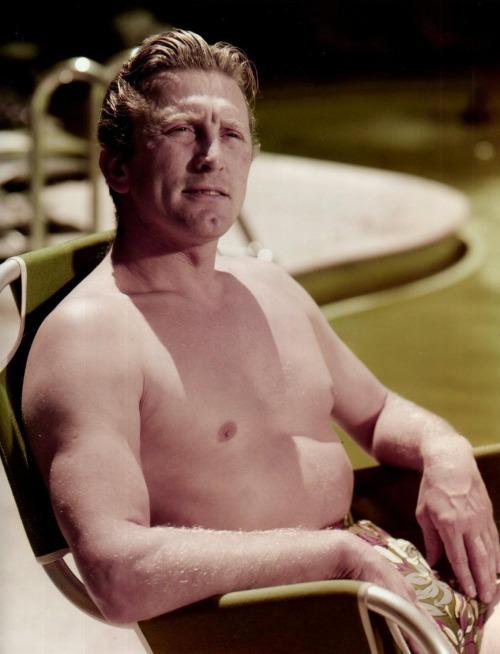 Shirtless Kirk Douglas
