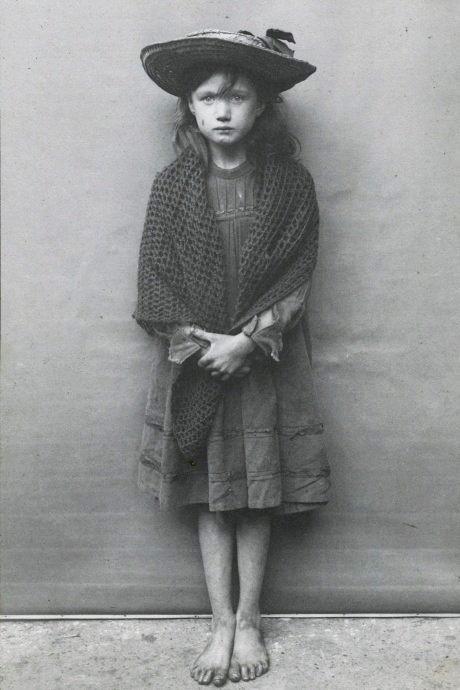 """Homeless child (a """"street urchin""""), London,1800s"""
