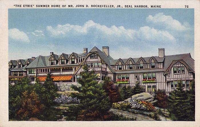 Rockefeller's summer home in Seal Harbor,Maine