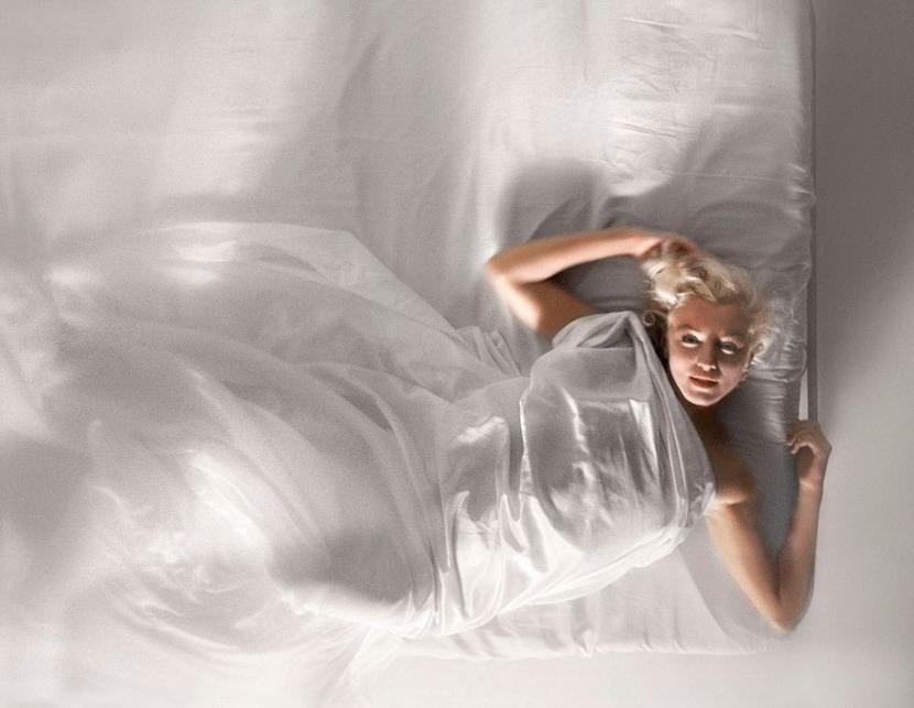 Marilyn Monroe inbed