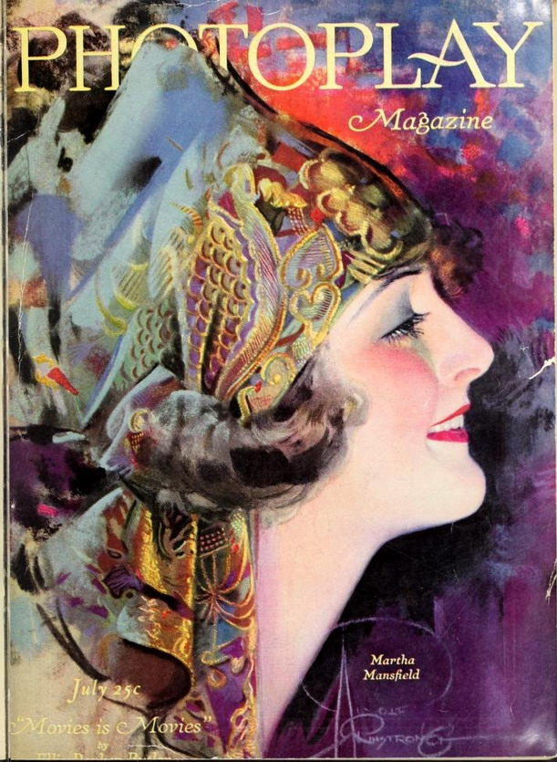 Silent film star Martha Mansfield on the cover of Photoplay, 1920s
