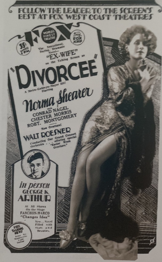 "Norma Shearer in the pre-code classic ""The Divorcée"""