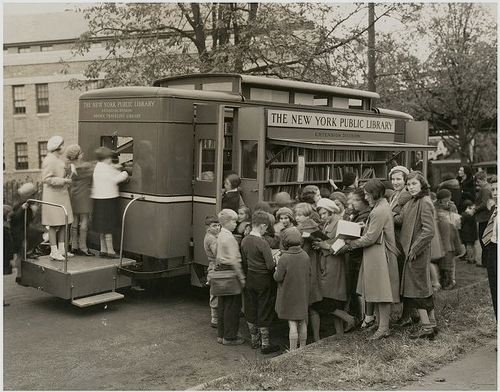 Book Mobile, New York Public Library,1930s