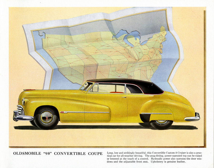 """Oldsmobile """"98"""" Convertible Coupe,1940s"""