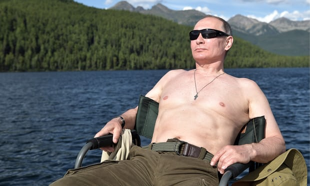 Putin taking a little break, thinking about all the chaos he has caused in the US & Europe,2017