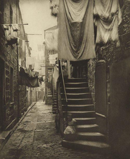 Alley in Glasgow, Scotland,1868