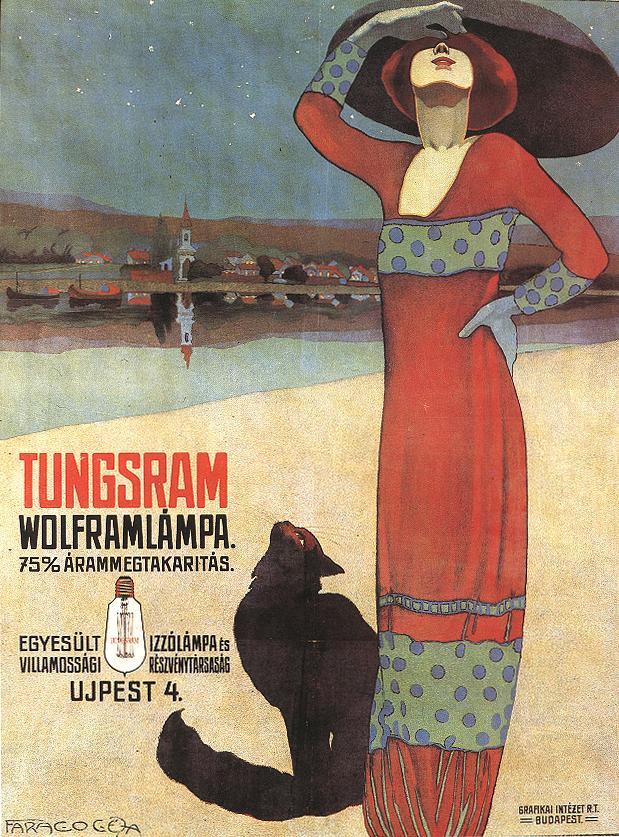 Vintage Hungarian Lightbulbposter