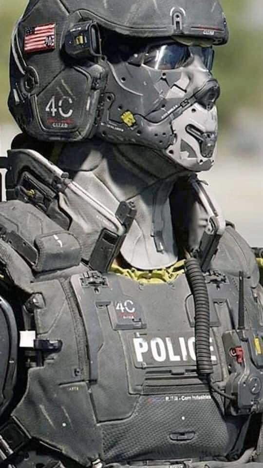 Fascist stormtrooper, US, July2020