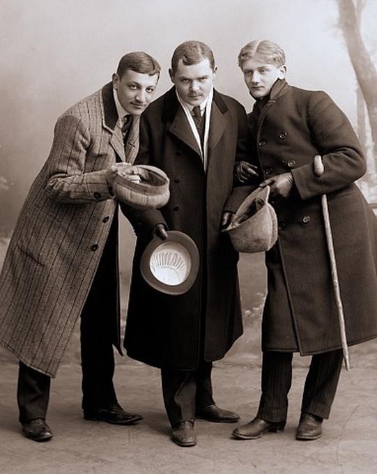 Three vintage men