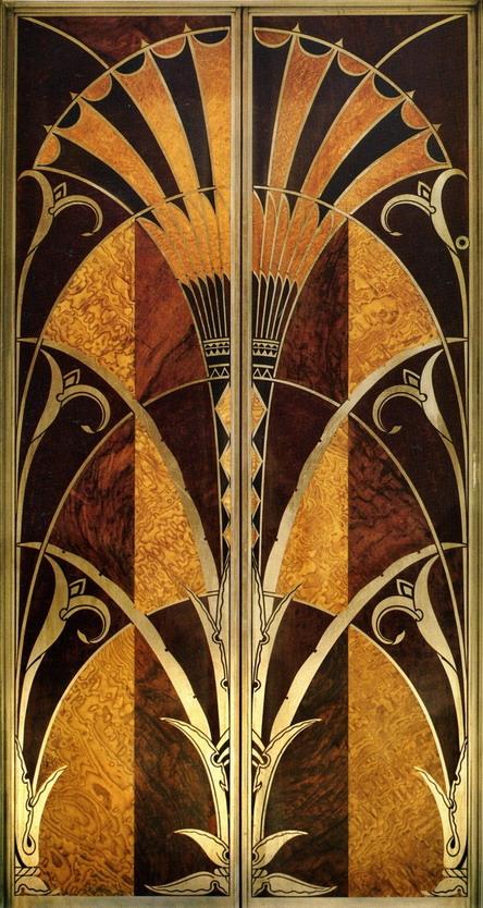 ART DECO ELEV DOORS