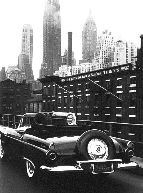 Arthur Miller and his wife Marilyn Monroe, NYC, 1957