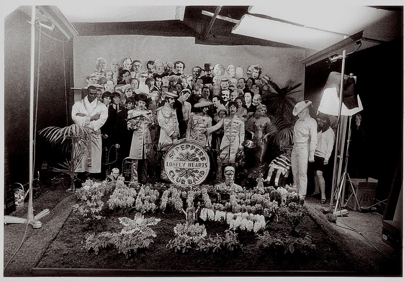 "The making of the Beatles iconic album cover photo for ""Sgt. Pepper's Lonely Hearts Club Band"""