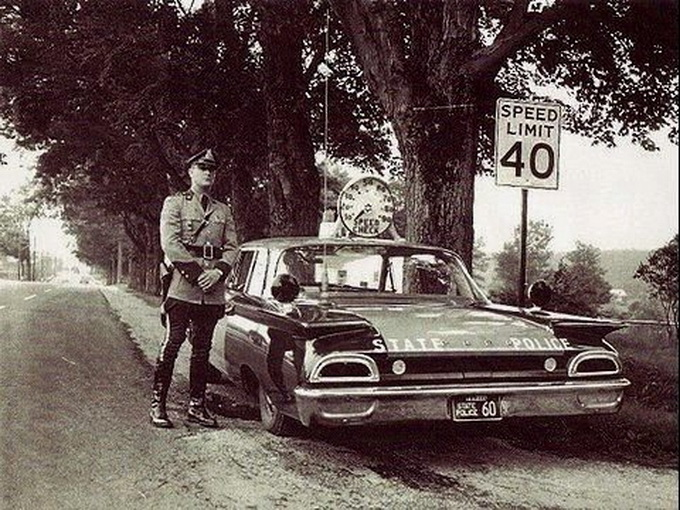 Enforcing the speed limit,1950s