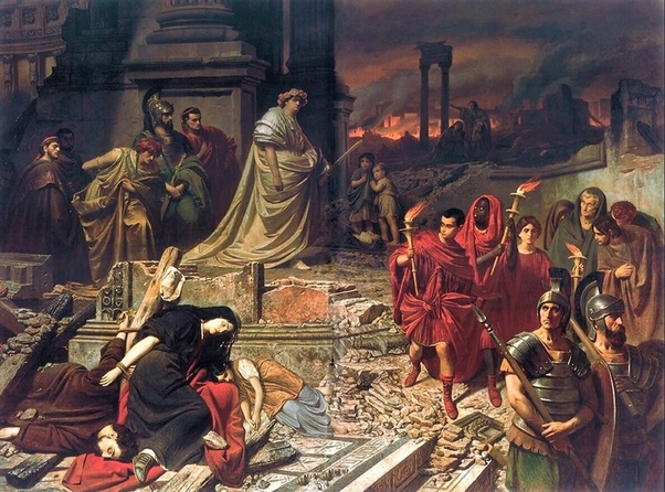 Emperor Nero and the downfall ofRome