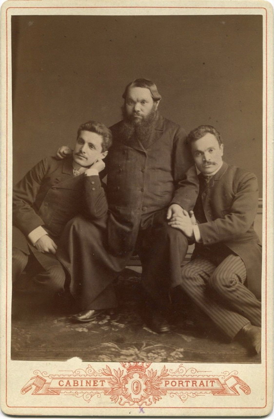 Vintage men together (I am pretty sure it's Russian Tsar Alexander III & his sons)