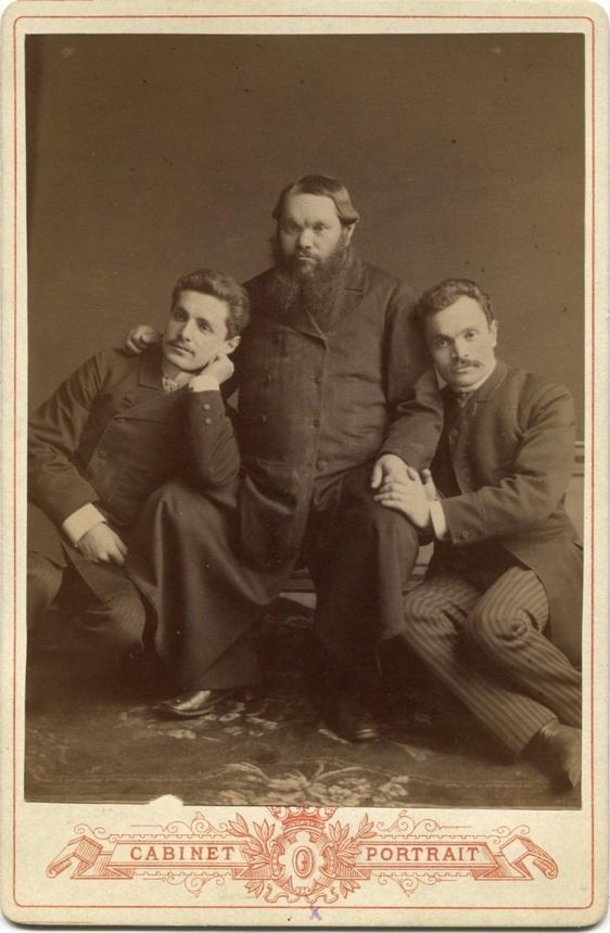 Vintage men together (I am pretty sure it's Russian Tsar Alexander III & hissons)