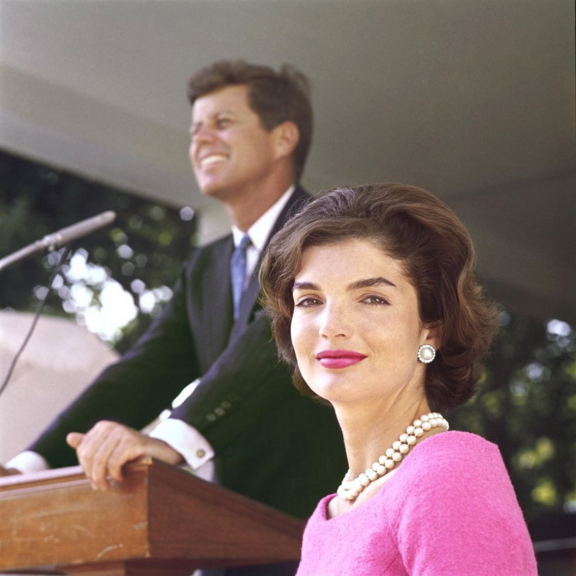 JFK and Jackie when he was campaigning for a Massachusetts Senate seat,1953