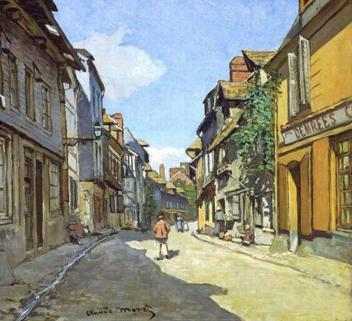 La Rue Bavolle at Honfleur  by Claude Monet, 1864