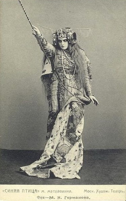 Maria Germanova as The Witch in 'The Blue Bird', Moscow, 1908
